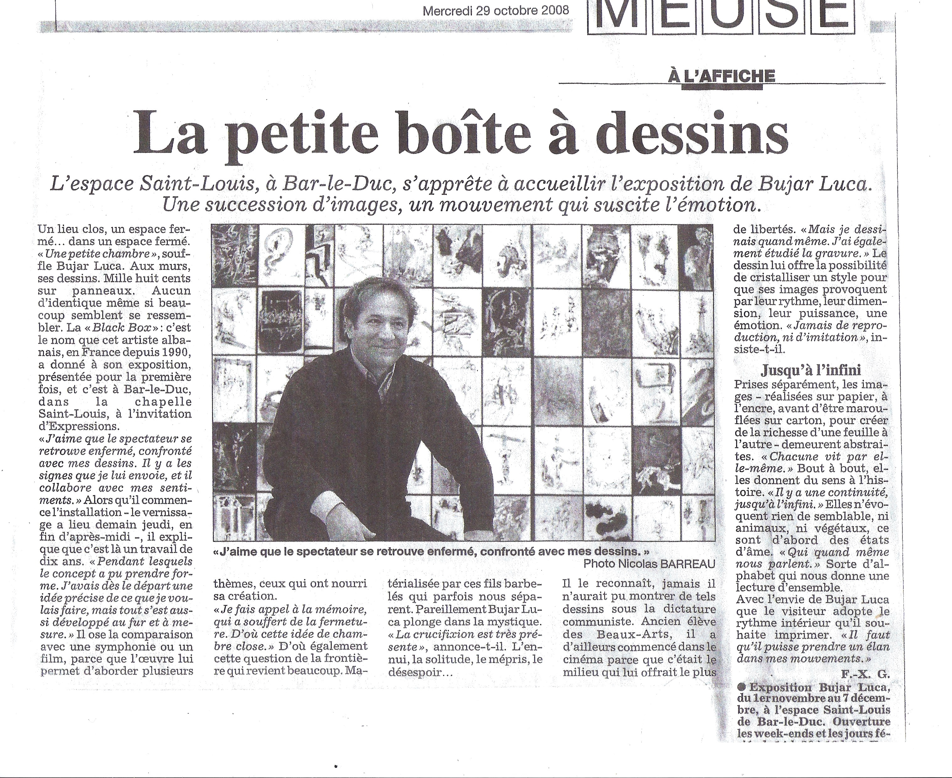 Black Box - article de presse