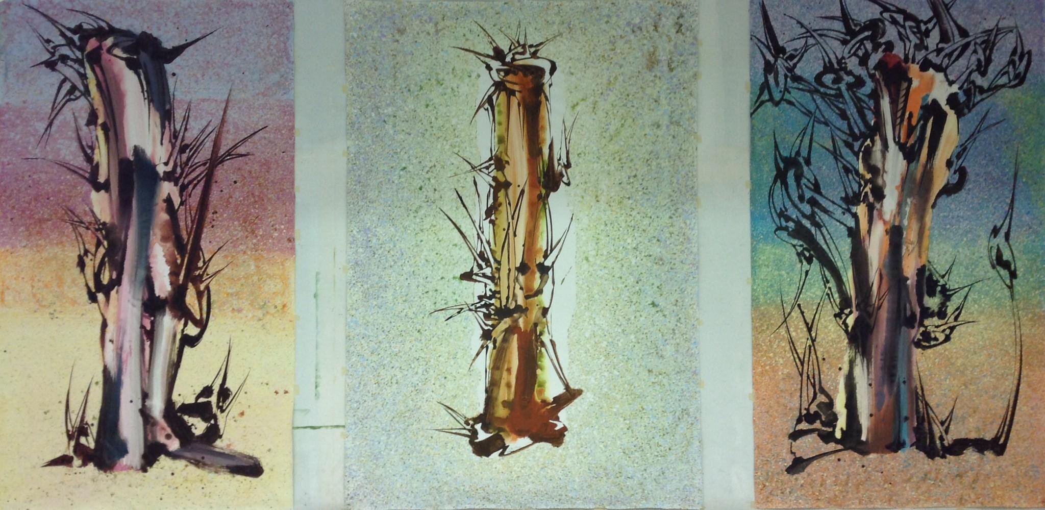 Triptyque,Acrylique sur toile 270 X 510 cm