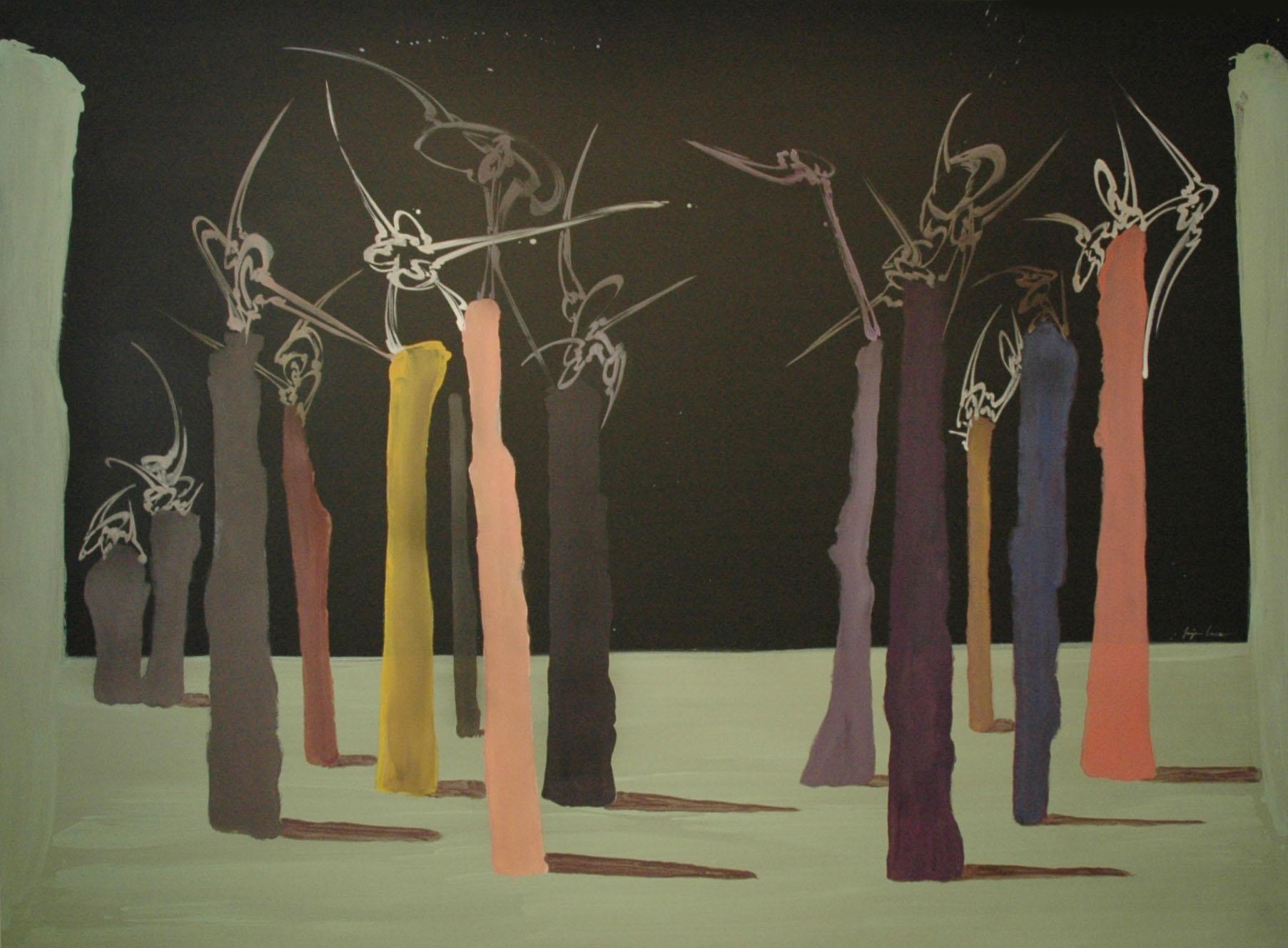 A l'assaut de la Gloire, Acrylique sur toile 360 x 260 cm