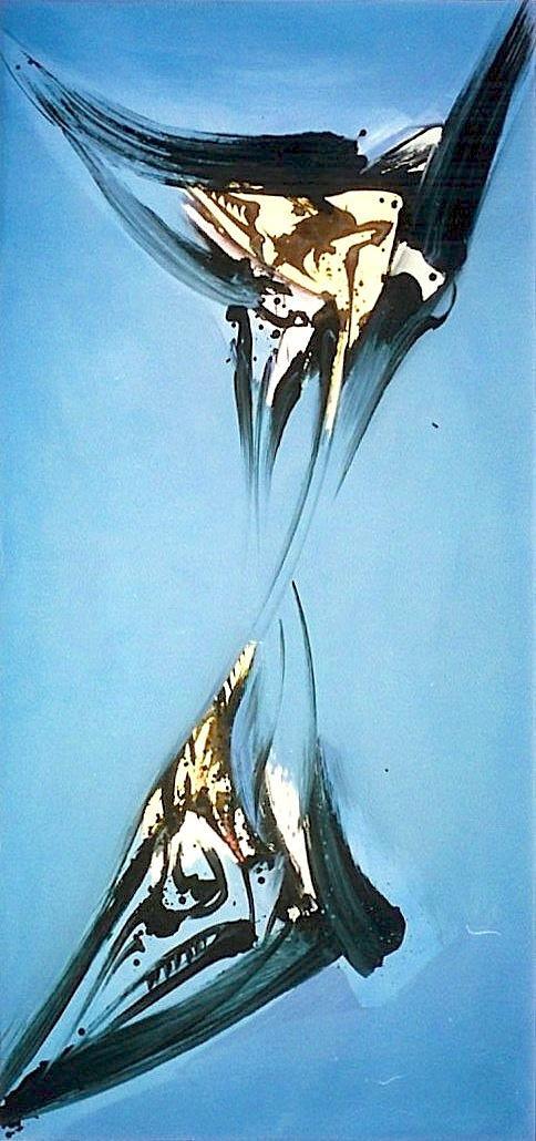 L'Envol, Acrylique sur toile 105 x 221 cm