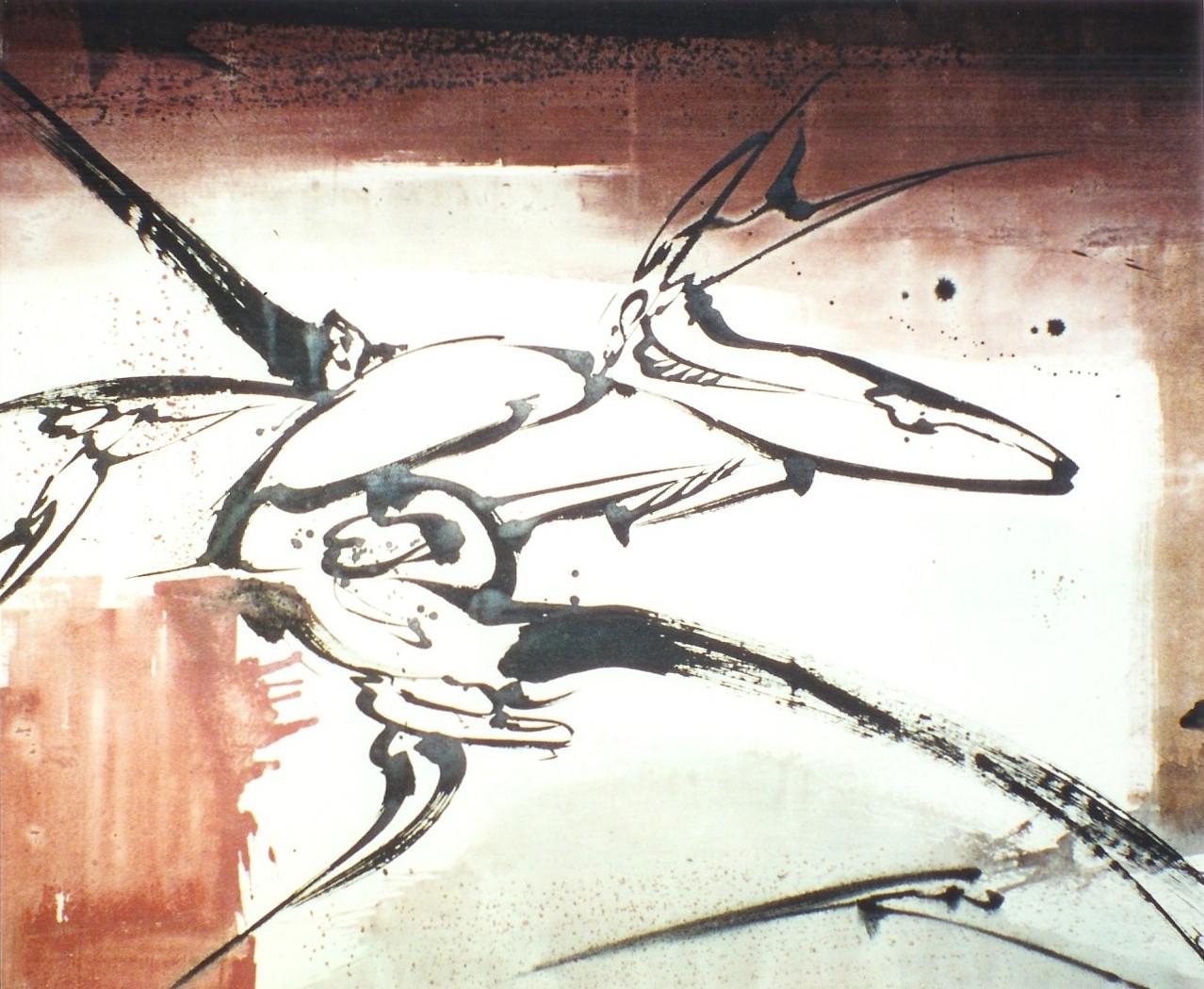 Le Cri, Acrylique sur toile 184 x 162 cm