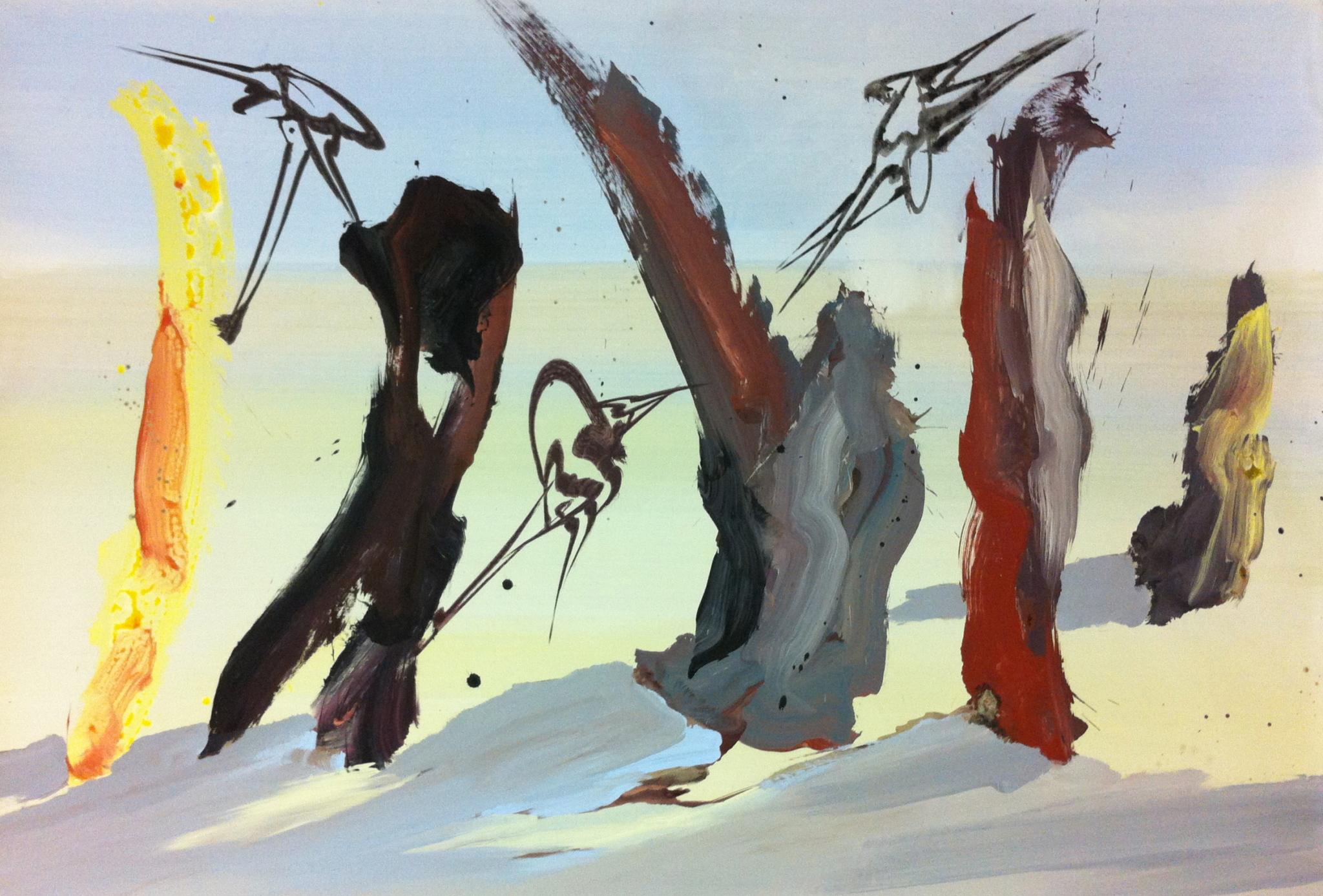 Acrylique sur toile 195 x 130 cm