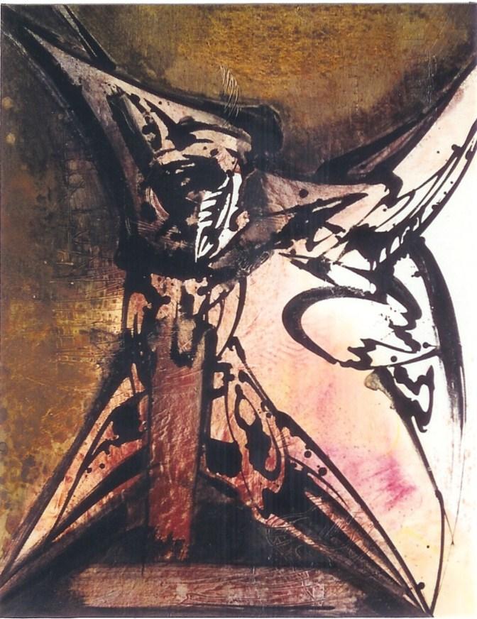 Prométhée , Acrylique sur toile  116 X 89 cm