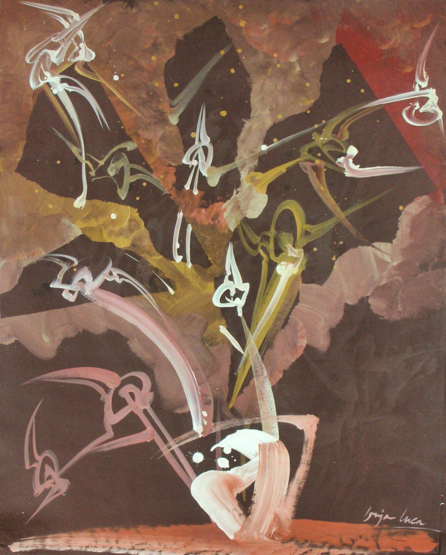 Bouquet, Acrylique sur toile  89 x 61cm