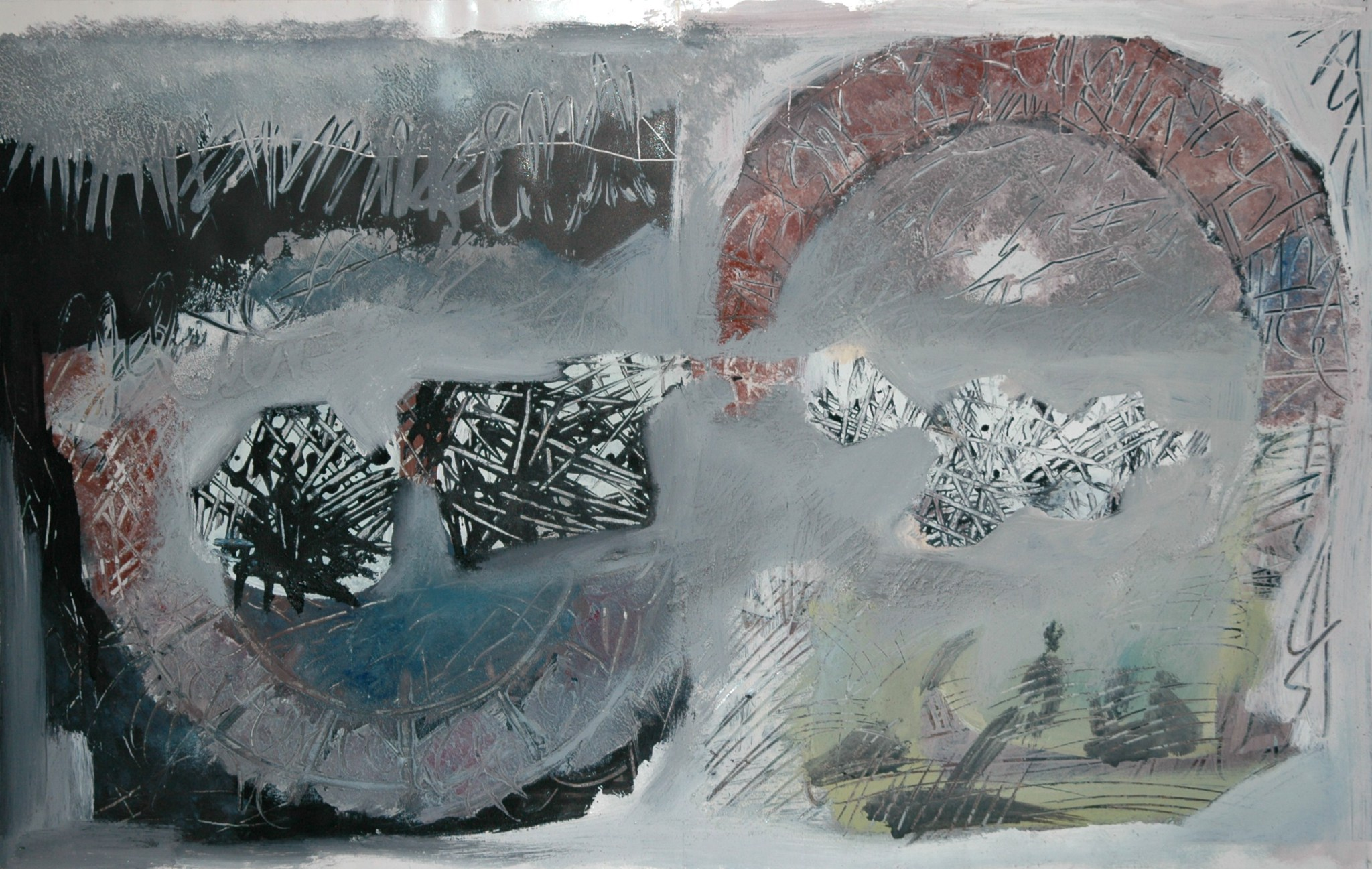Couleurs en poudre sur papier, 52.9 X 33.5 cm