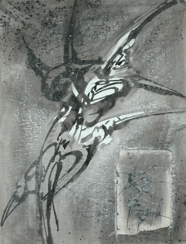 Encre de Chine sur papier, 65 X 50 cm