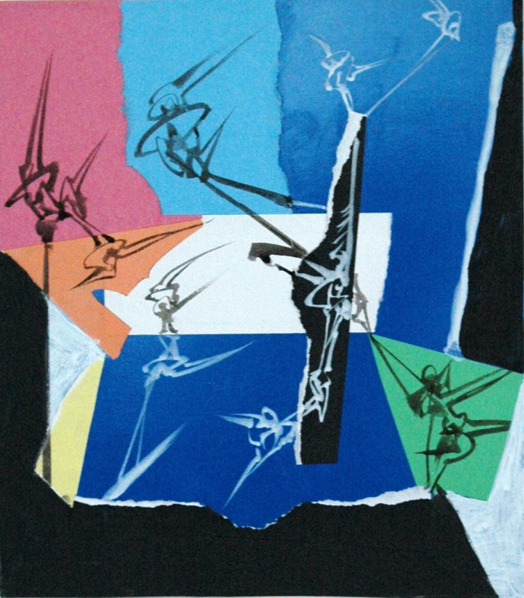 Acrylique sur papier, 20.7 x 23.7 cm