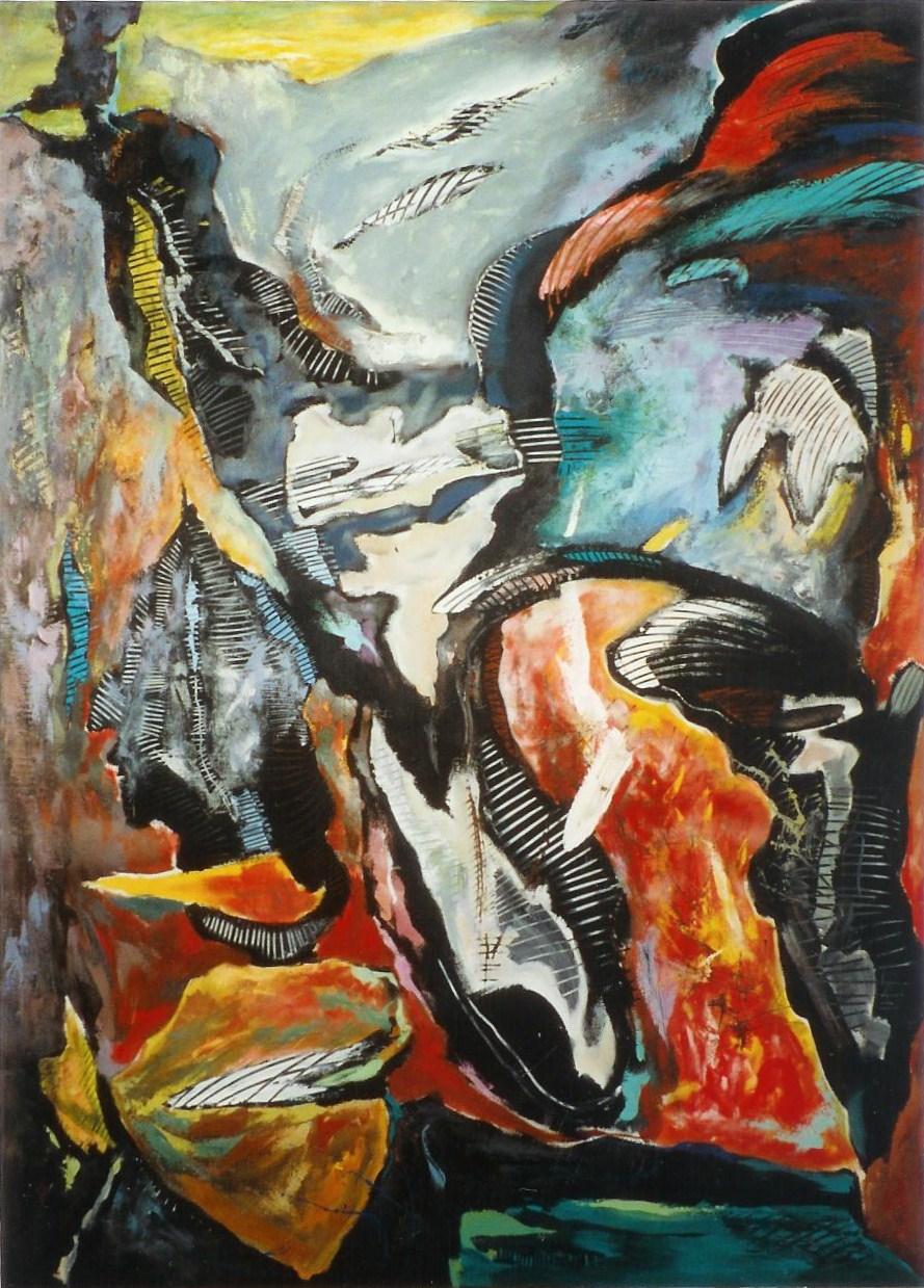 Acrylique sur toile 200 x145cm