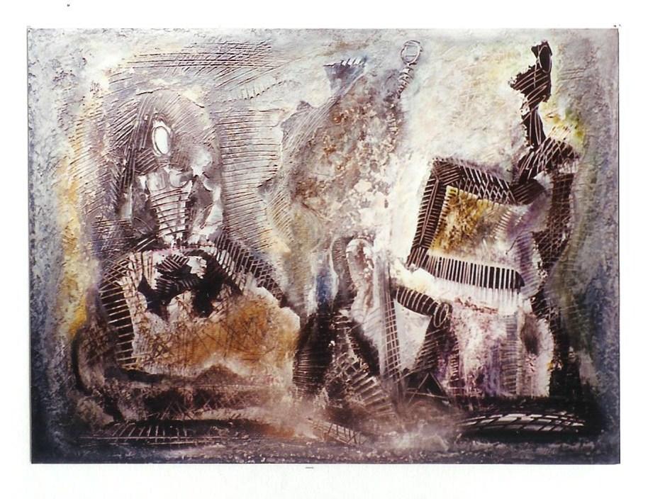 La Visitation, Acrylique sur toile 80 X 60 cm