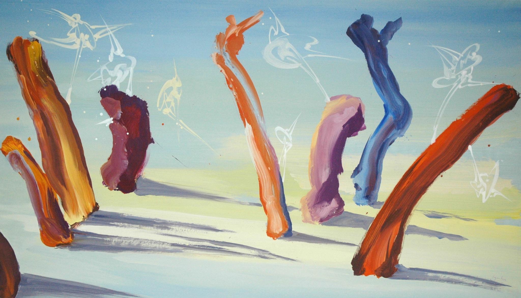 Acrylique sur toile 310 x 175 cm