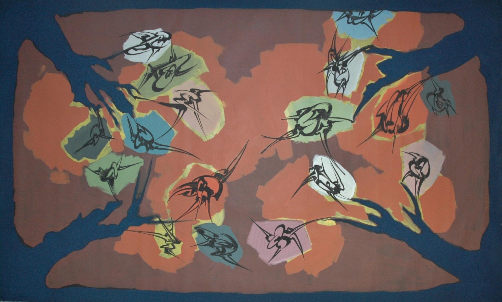 Plafond, Acrylique sur toile  350 x 210 cm
