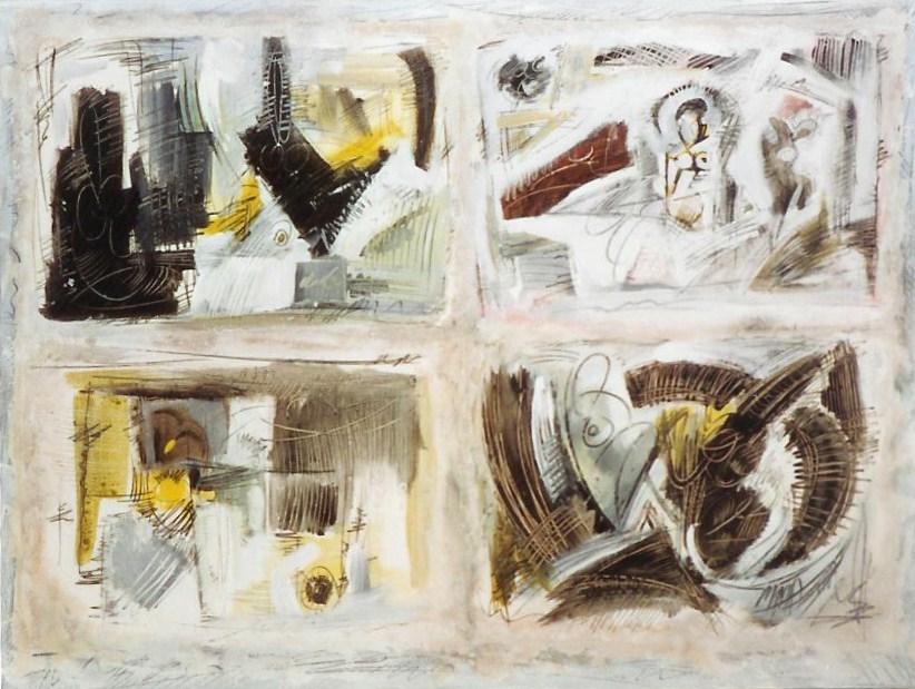 Raisonné dérèglement, Papier marouflé sur toile 116 x 89cm