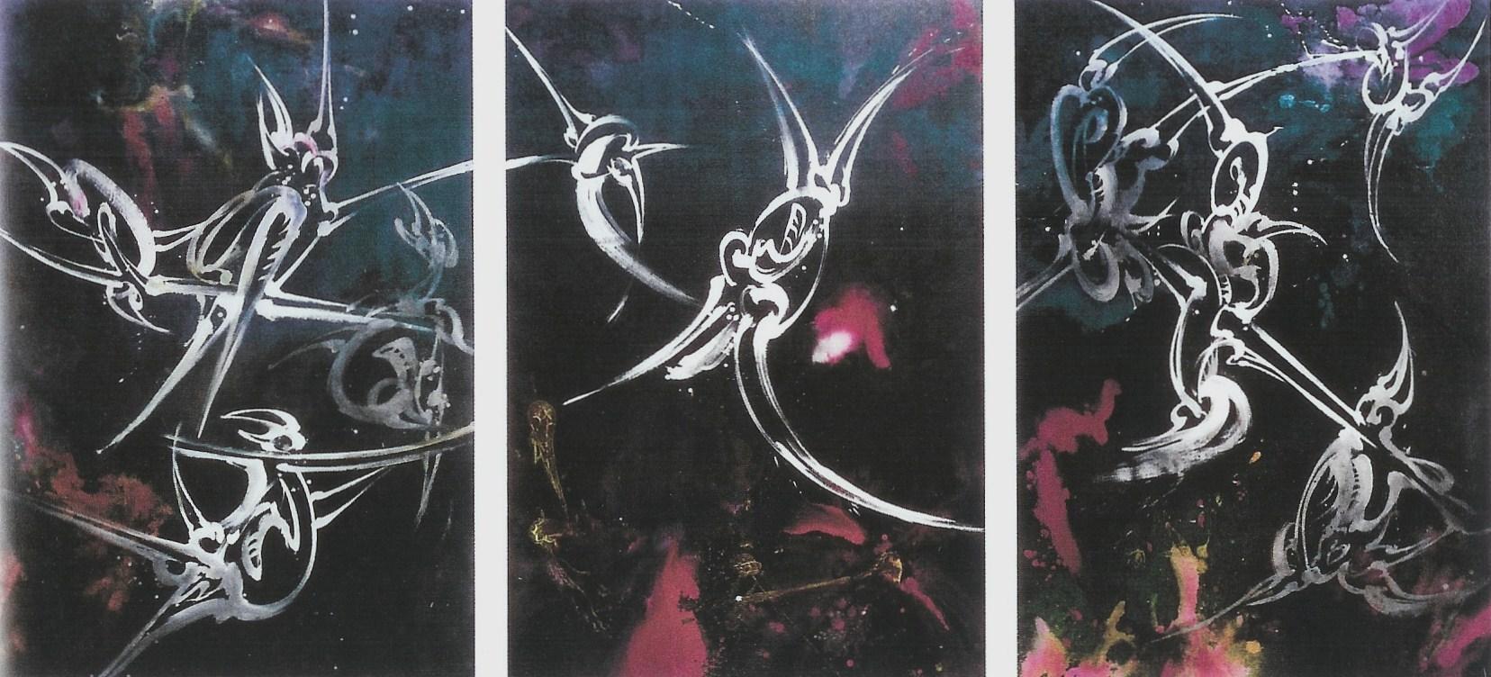 Acrylique sur toile, Triptyque 393 x 187 cm