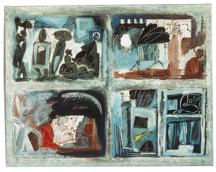 Une marche à la féerie, Papier marouflé sur toile 116 x 89 cm