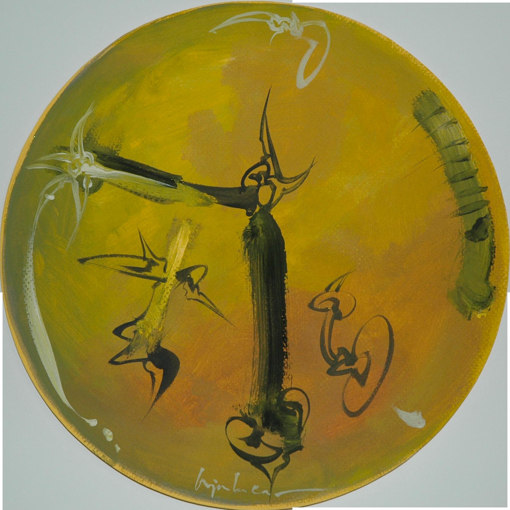Acrylique sur papier, Diamètre 30.7 cm
